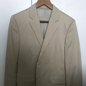 Theory men's jacket size 28 beige tan blazer